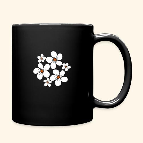blühende weiße Blüten, Blumen, Blumenstrauß floral - Tasse einfarbig