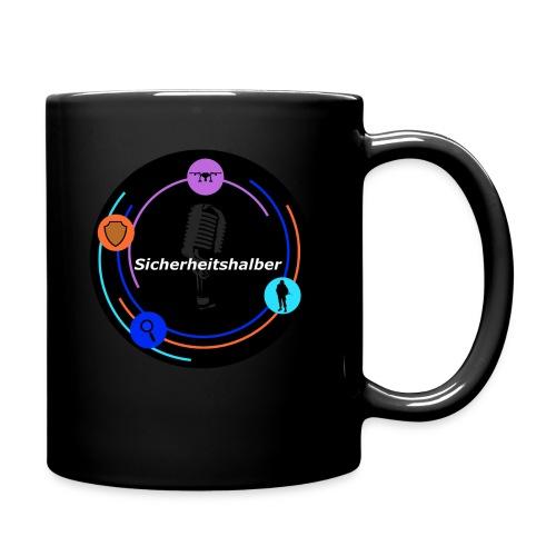 Sicherheitshalber dunkel - Tasse einfarbig
