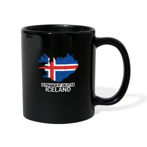 Straight Outta Iceland country map - Full Colour Mug