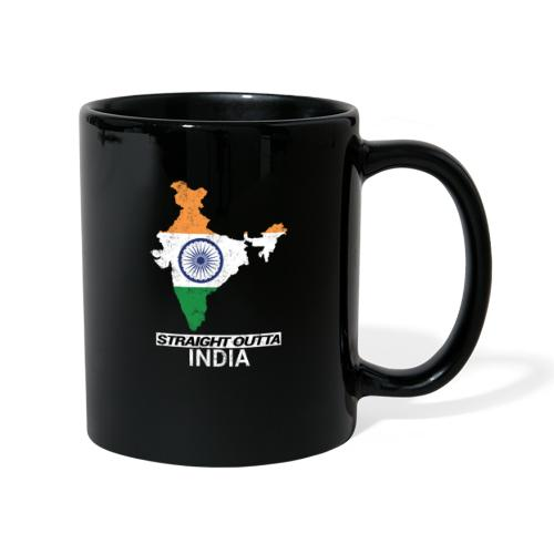 Straight Outta India (Bharat) country map flag - Full Colour Mug