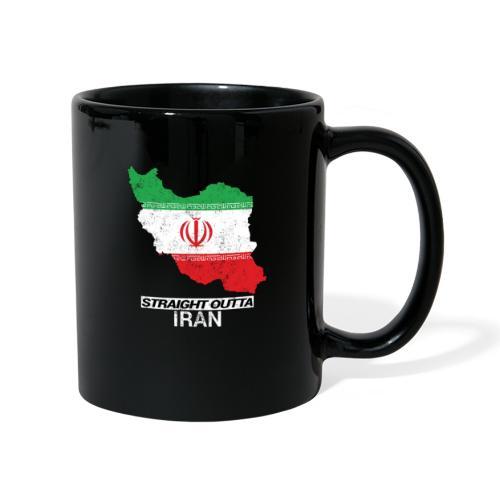 Straight Outta Iran country map & flag - Full Colour Mug