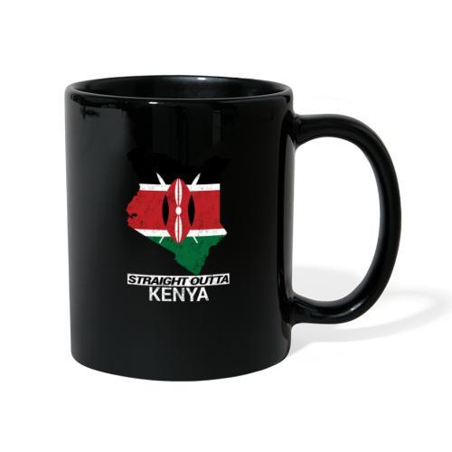 Straight Outta Kenya country map & flag - Full Colour Mug