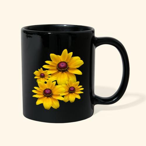 gelb blühende Sonnenhut Blumen, Blüten, floral, - Tasse einfarbig