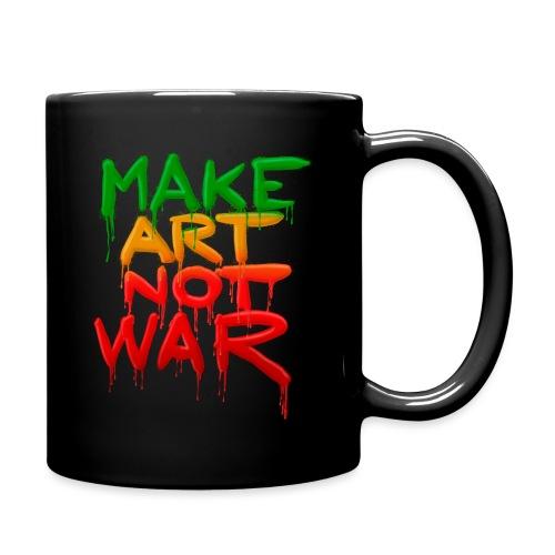 Make Art Not War - Ensfarvet krus