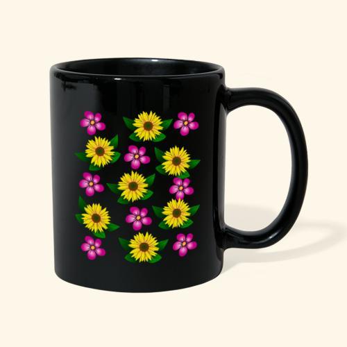 Sonnenblumen, pinke Blumen, floral, Blüten, pink - Tasse einfarbig