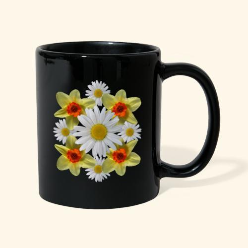 Narzissen Margeriten Osterglocken Blumen Blüten - Tasse einfarbig