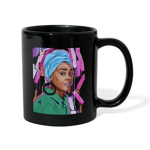 Light blue head-wrap with hoops - Full Colour Mug