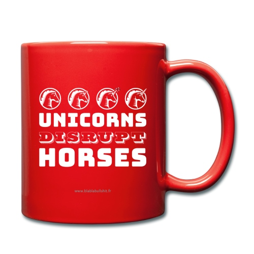 Unicorns Disrupt Horses - Mug uni