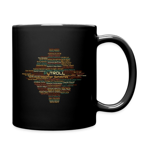 Pytroll wordcloud march 2019 - Full Colour Mug