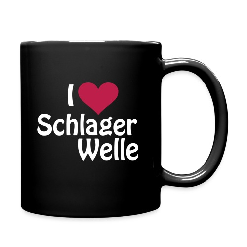 I love Schlagerwelle - Logo in Weiß - Tasse einfarbig