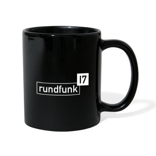 rundfunk17 Logo weiß - Tasse einfarbig