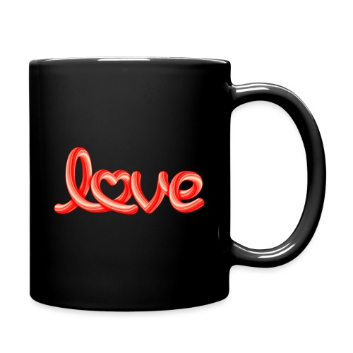 Love script with heart - Tasse einfarbig