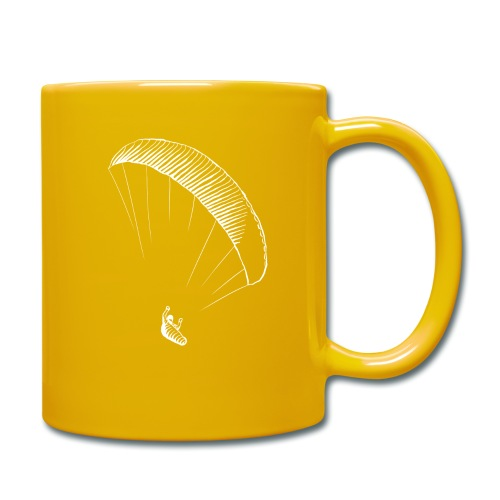 paraglider gerlitzen weiss - Tasse einfarbig