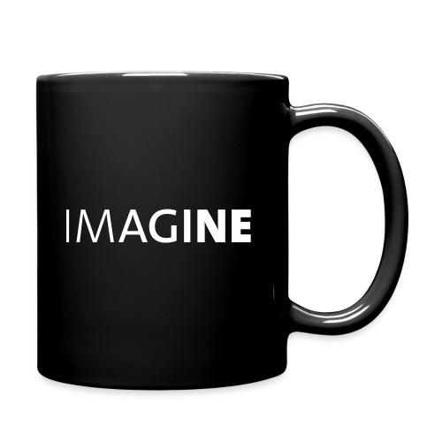 Logo IMAGINE weiß - Tasse einfarbig