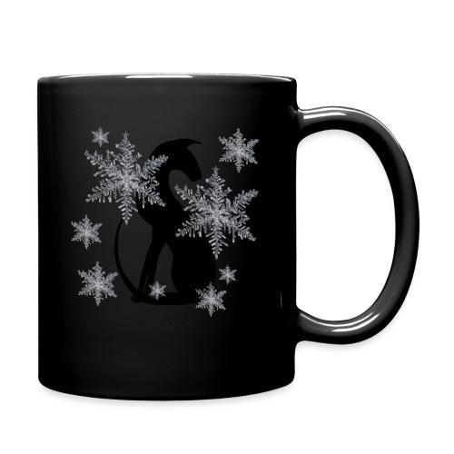 Silhuett snö - Enfärgad mugg