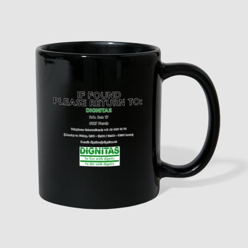 Dignitas - If found please return joke design - Full Colour Mug