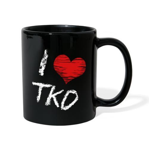 I love tkd letras blancas - Taza de un color
