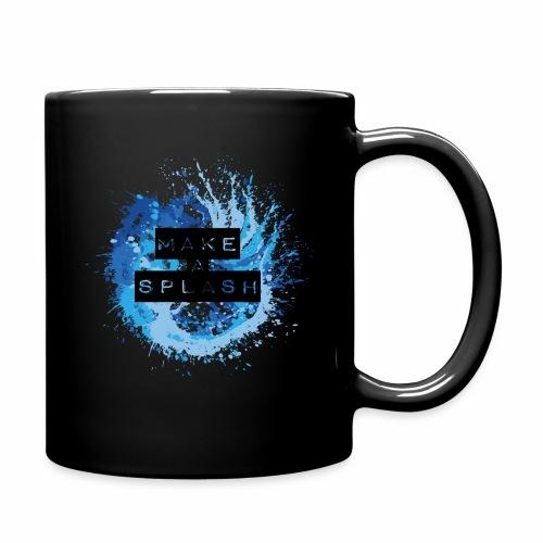 Make a Splash - Aquarell Design in Blau - Tasse einfarbig
