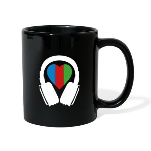 Silent Disco Headphone > Heart | white - Tasse einfarbig