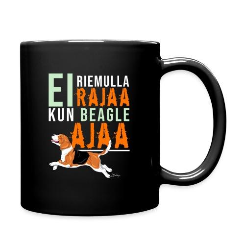 Riemulla Rajaa Beagle - Yksivärinen muki