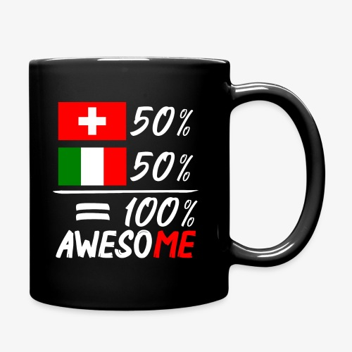 50% Schweiz 50% Italien - Tasse einfarbig