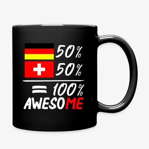 50% Deutsch 50% Schweiz - Tasse einfarbig