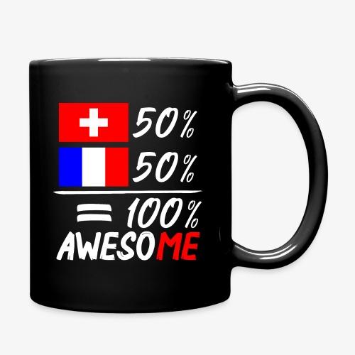 50% Schweiz 50% Frankreich - Tasse einfarbig