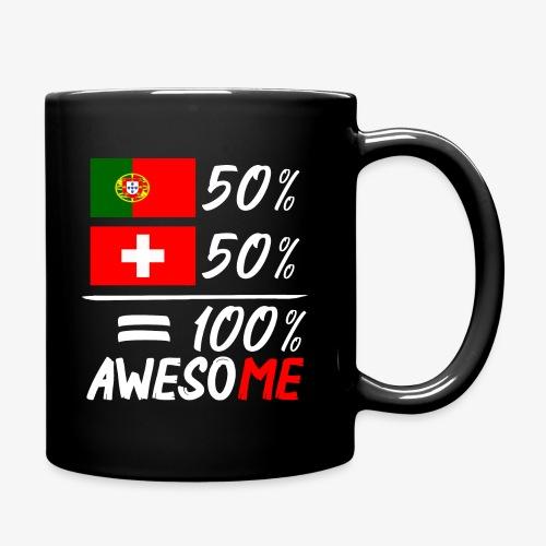 50% Portugal 50% Schweiz - Tasse einfarbig