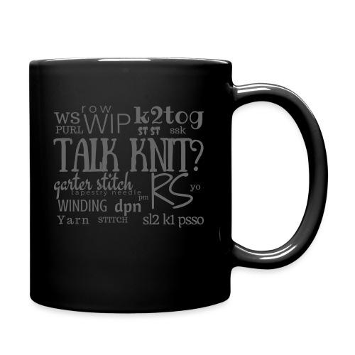 Talk Knit ?, gray - Full Colour Mug