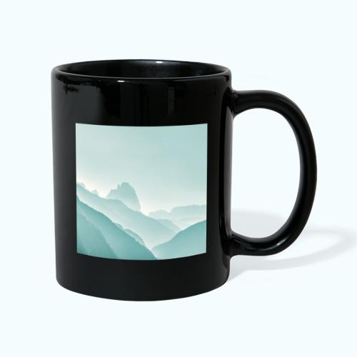 Minimalist zen mountains pastel - Full Colour Mug
