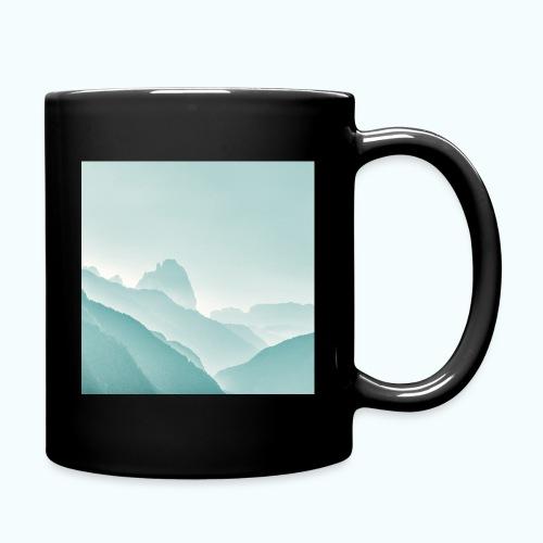 Minimalist zen mountains pastel - Full Colour Mug