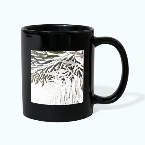 Pale leaf Zen watercolor nature - Full Colour Mug