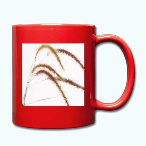 Tender grass watercolor minimalism nature - Full Colour Mug