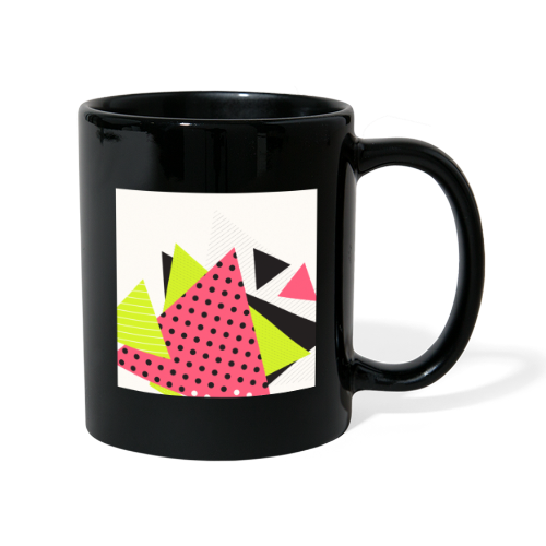 Neon geometry shapes - Full Colour Mug