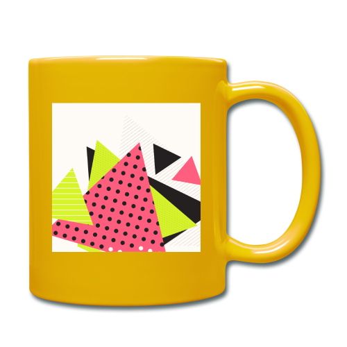 Neon geometry shapes - Full Colour Mug
