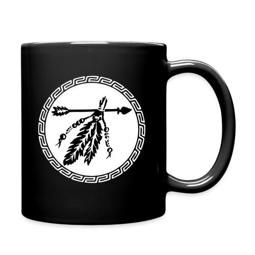 Pfeil mit Federn, Schutz & Kraft Symbol, Indianer - Tasse einfarbig