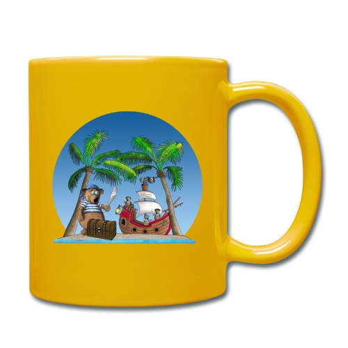 Pirat - Piratenschiff - Schatzinsel - Tasse einfarbig