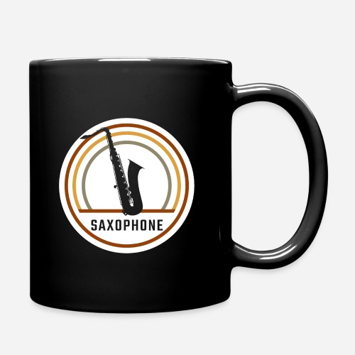 Saxophone Circle Retro - Tasse einfarbig