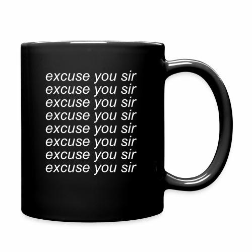 Excuse you x8 - Enfärgad mugg