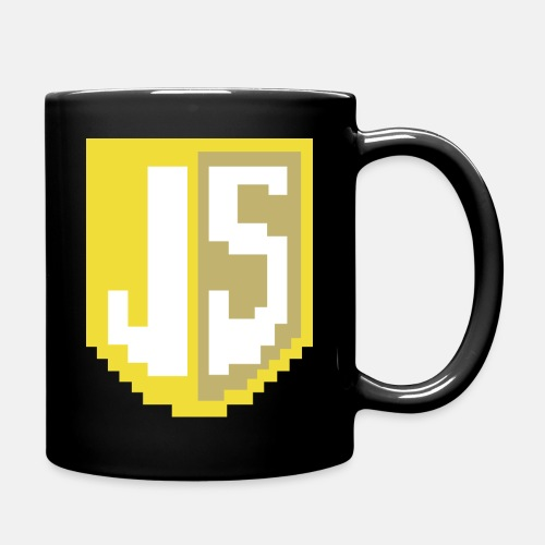 JavaScript Pixelart Logo - Tasse einfarbig