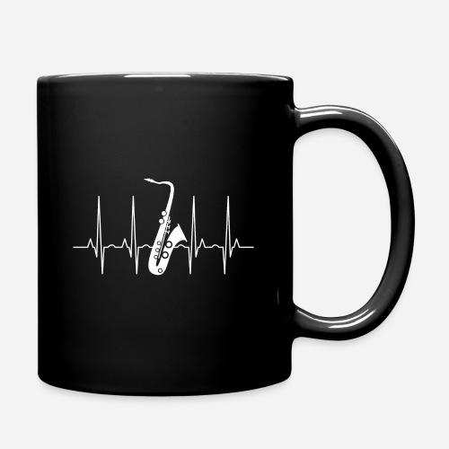 Saxophon Herzschlag - Tasse einfarbig