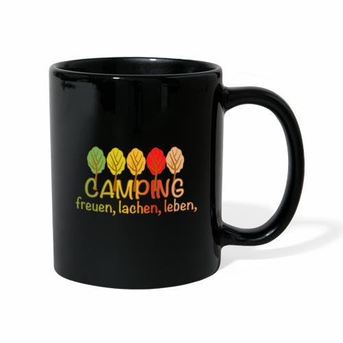 Camping, freuen, lachen, leben - deutsch - Tasse einfarbig
