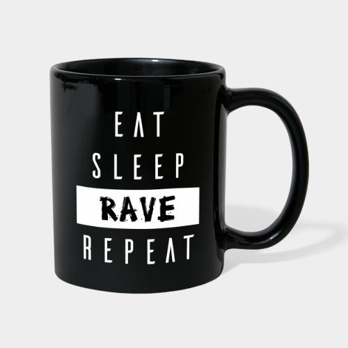 EAT SLEEP RAVE REPEAT - Tasse einfarbig