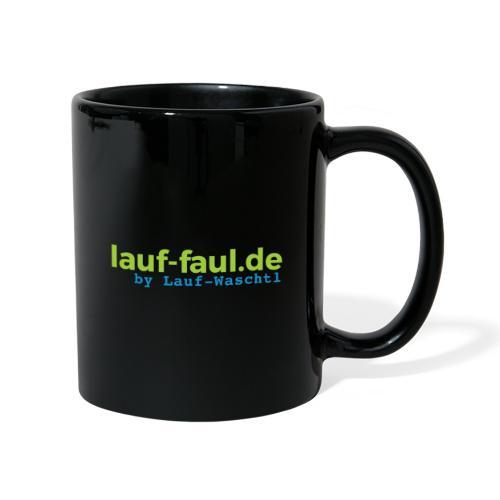 lauf-faul.de - beidseitig - Tasse einfarbig