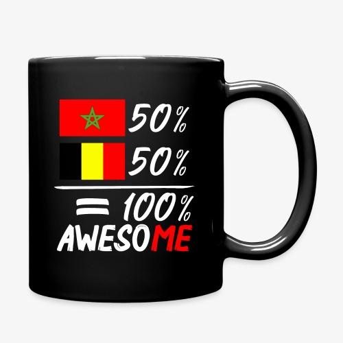 50%Marokko 50% Belgien - Tasse einfarbig