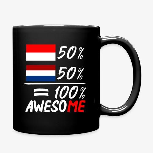 50% Nederland 50% Indonesië - Tasse einfarbig