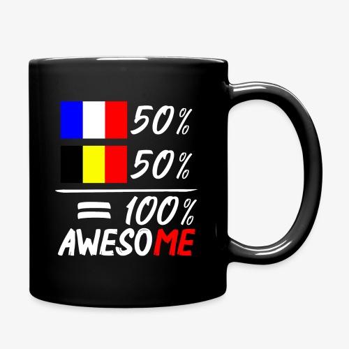 50% Frankreich 50% Belgien - Tasse einfarbig