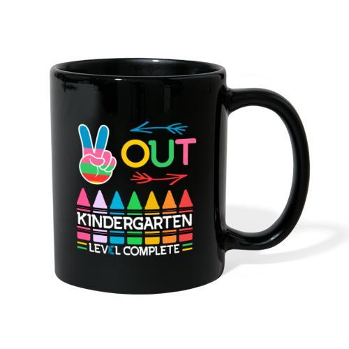 Peace Out Förskolan Färdig Med Denna Nivå Klar - Enfärgad mugg