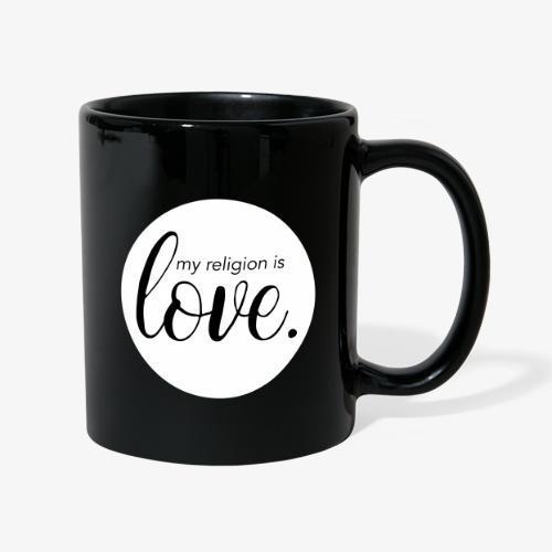 love religion - Tasse einfarbig