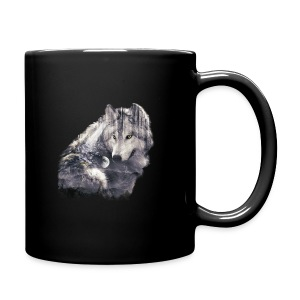wolf and forest - Taza de un color